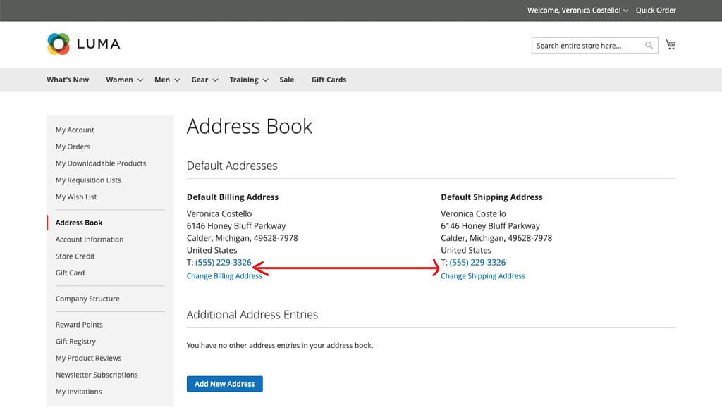 Magento 2 custom attribute in customer address book
