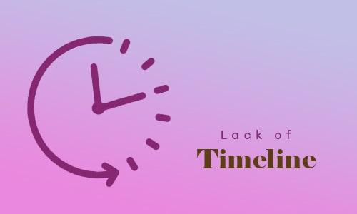 Lack of Timeline-min